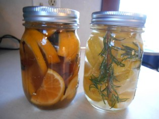 Orange and Lemon jars...